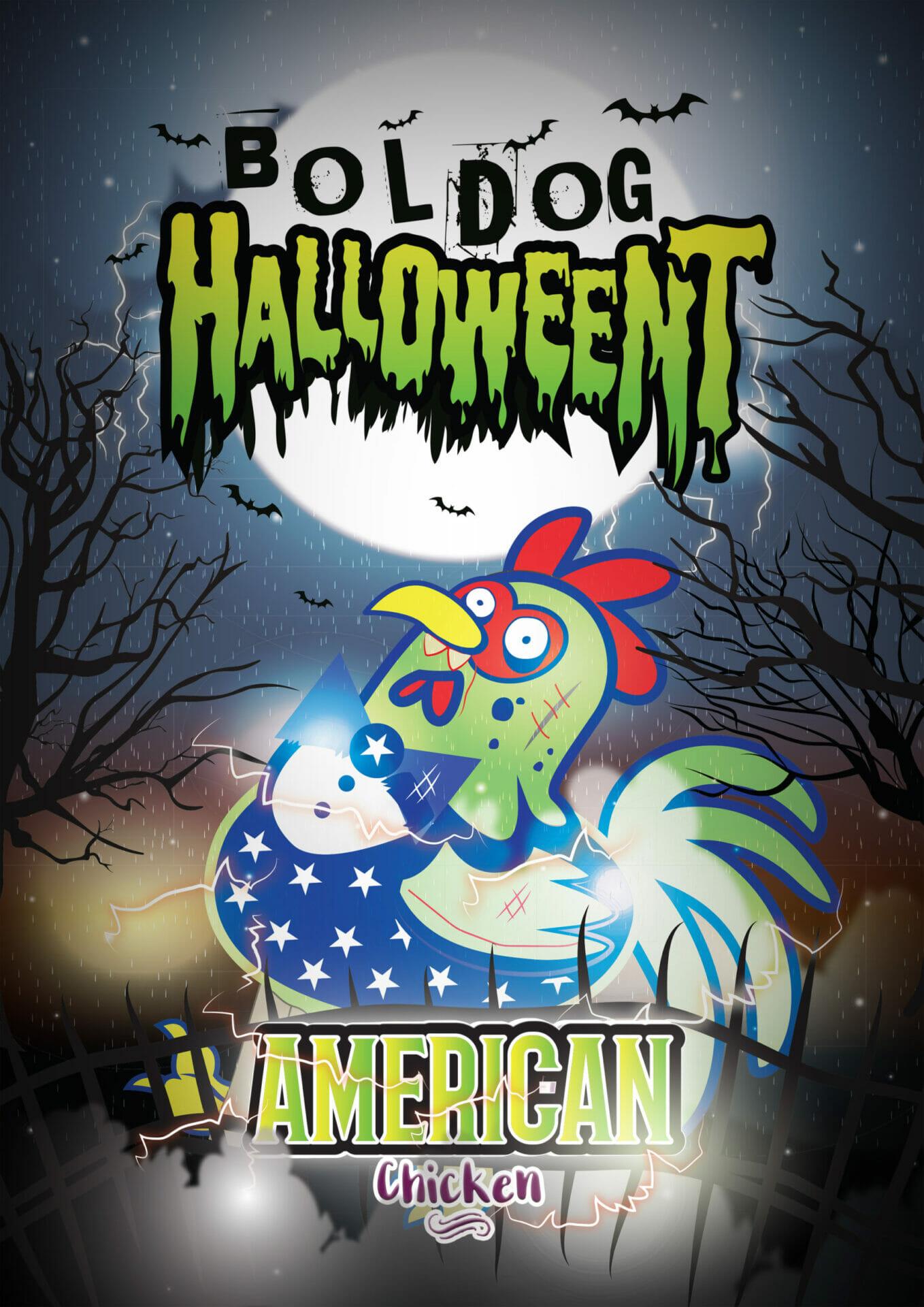 American_Chicken_Halloween_plakat_csirke
